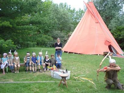 Tir à l'arc dans le camp
