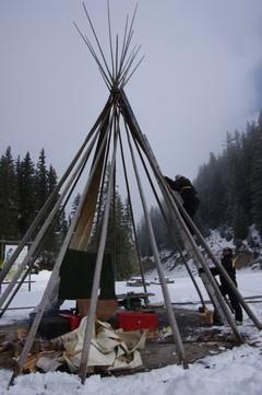 Demontage camp 2012 piste des indien