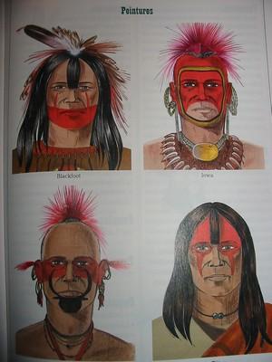 Tam Tam La Parole De Lindien Les Maquillages Des Indiens